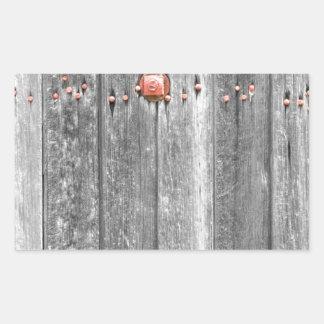 Parafusos de madeira BWSC da textura e do vermelho Adesivo Retangular