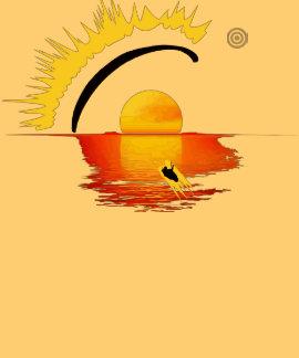 PARAGLIDING SETTING SUN pontocentral Camiseta