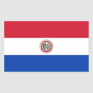 Paraguai/bandeira paraguaia adesivo retangular