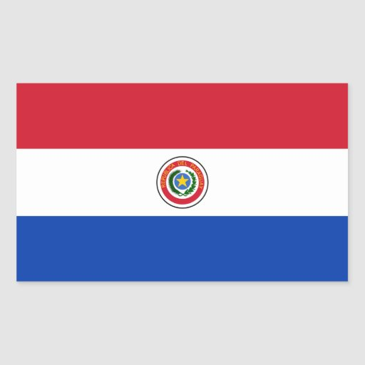 Paraguai/bandeira paraguaia adesivos retangulares