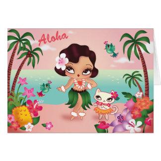 Paraíso da ilha de Hula Lulu - cartão