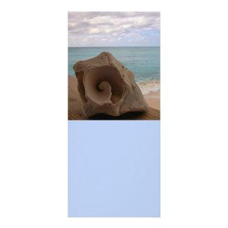Paraíso da praia do Seashell 10.16 X 22.86cm Panfleto