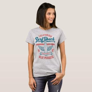 Paraíso da praia do surf de Califórnia Camiseta