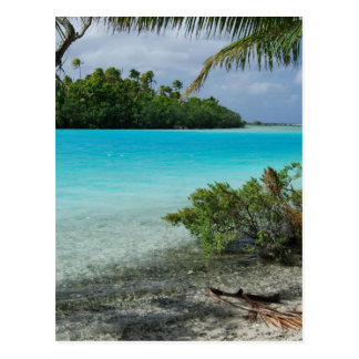 Paraíso das férias da praia cartão postal