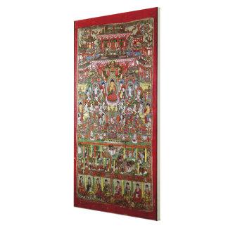 Paraíso de Amitabha Impressão Em Tela