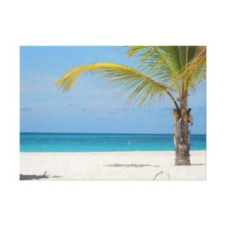 Paraíso de Aruba Impressão De Canvas Envolvida