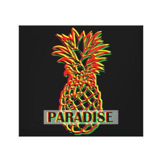 Paraíso do abacaxi impressão em tela