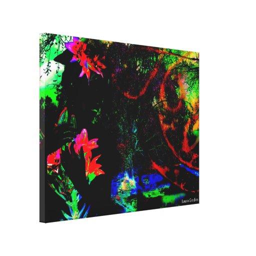 Paraíso do Grunge Impressão De Canvas Envolvida