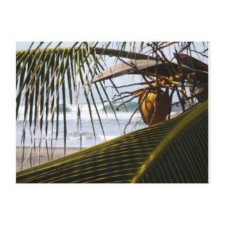 Paraíso dos surfistas impressão de canvas esticadas