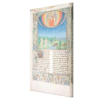 Paraíso terrestre, um livro em sete idades do mund impressão em tela