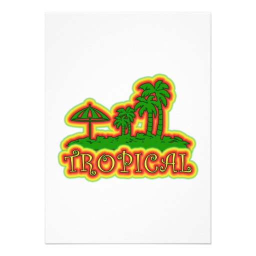 Paraíso tropical convites personalizado