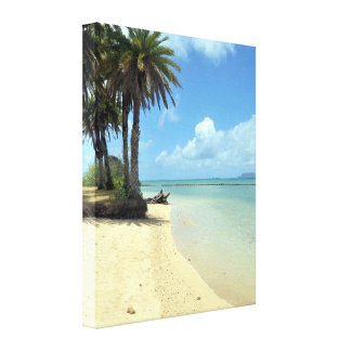 Paraíso tropical da praia impressão em tela