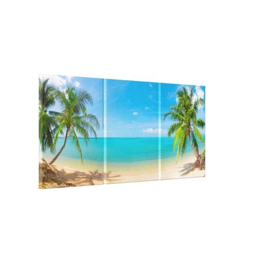 Paraíso tropical de PixDezines Impressão De Canvas Esticadas