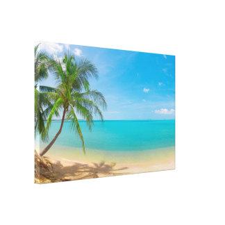Paraíso tropical de PixDezines Impressão Em Tela