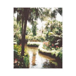 Paraíso tropical do jardim impressão em tela