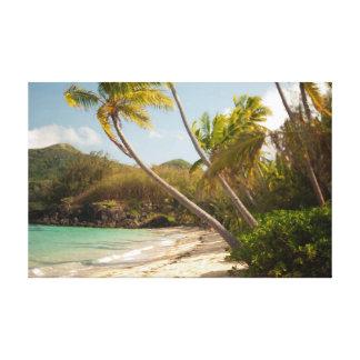 Paraíso tropical do oceano impressão em tela canvas