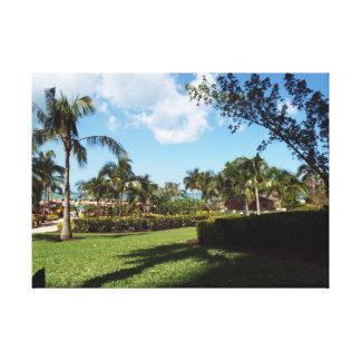 Paraíso tropical impressão em canvas