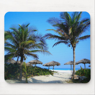 Paraíso tropical Mousepad da praia do oceano das