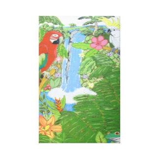 Paraíso tropical nas canvas w/options impressão de canvas esticada