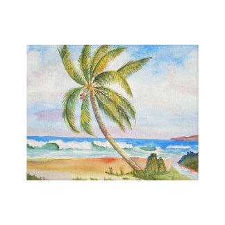Paraíso tropical impressão em tela
