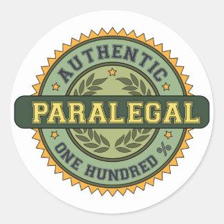 Paralegal autêntico adesivos redondos