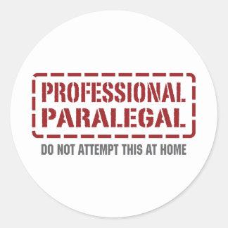Paralegal profissional adesivos em formato redondos