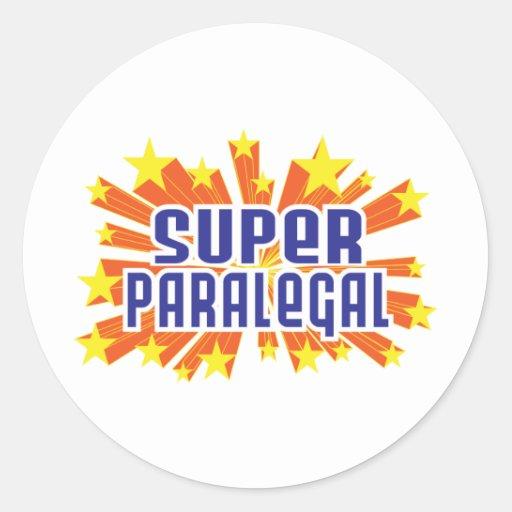 Paralegal super adesivos redondos