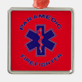 Paramédico do sapador-bombeiro ornamento de metal