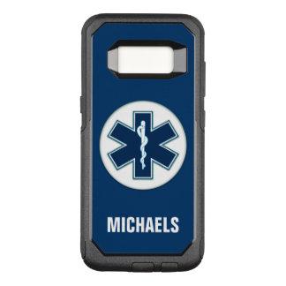 Paramédico EMT EMS com nome Capa OtterBox Commuter Para Samsung Galaxy S8