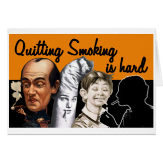 Parar o fumo é dura - cartão
