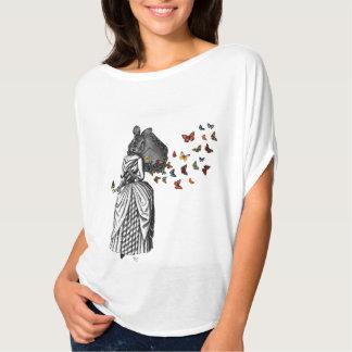 Parasol 2 do coelho e da borboleta tshirts