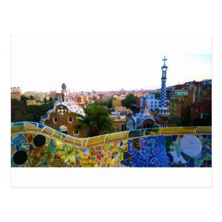 Parc Guell, Barcelona, espanha Cartão Postal