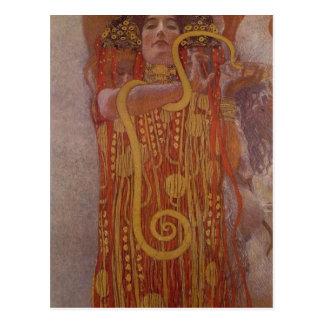 Parcela da descrição sumária da pintura de Klimt m Cartões Postais