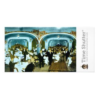Parcela de sala de jantar principal, café de Bisma Cartao Com Foto Personalizado