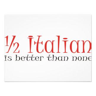 Parcialmente italiano é melhor do que nenhuns convites