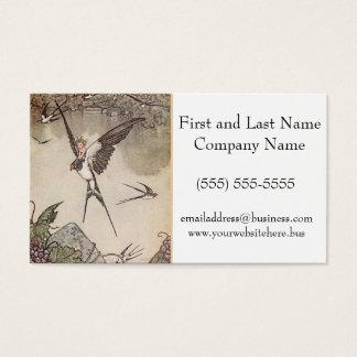Pardal da equitação do bebê, os contos de fadas de cartão de visitas