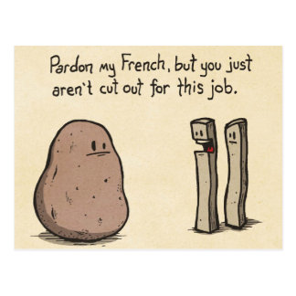 Pardon meu francês - humor da batata cartão postal