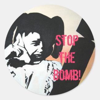 Pare a bomba pare a bomba adesivos