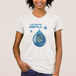 Pare a camisa da água de desperdício