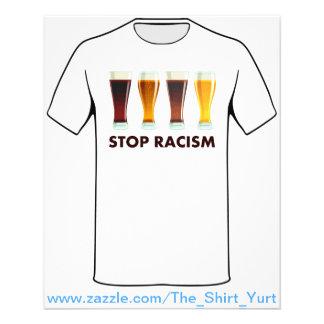 Pare a igualdade da cerveja do racismo do álcool flyer 11.43 x 14.22cm