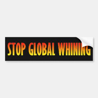Pare a lamentação global adesivo para carro
