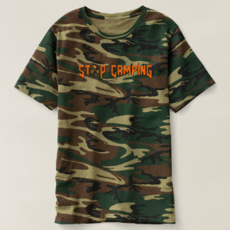 Pare de acampar você t-shirt de Noob v4 Camo Camiseta