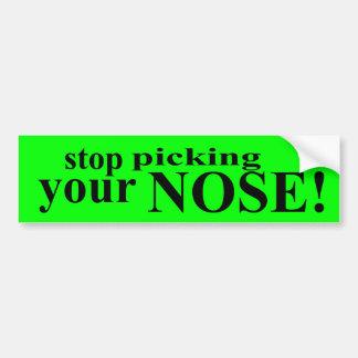 Pare de escolher seu nariz adesivos