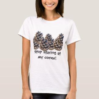 Pare de olhar fixamente camiseta