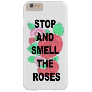 Pare e cheire a capa de telefone bonito dos rosas