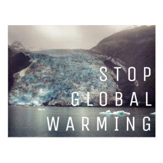 Pare o aquecimento global - cartão da geleira |
