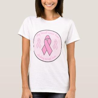 Pare o cancro da mama camiseta