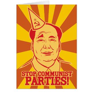 Pare o cartão de Mao do presidente de partidos