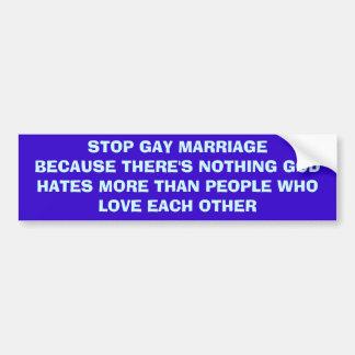 Pare o casamento gay adesivo para carro