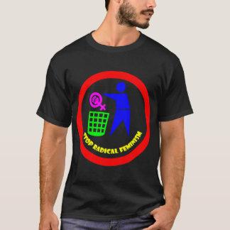 Pare o feminismo radical camiseta